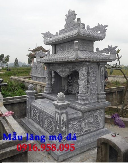 99 Mẫu lăng mộ đôi đẹp bằng đá xanh 107