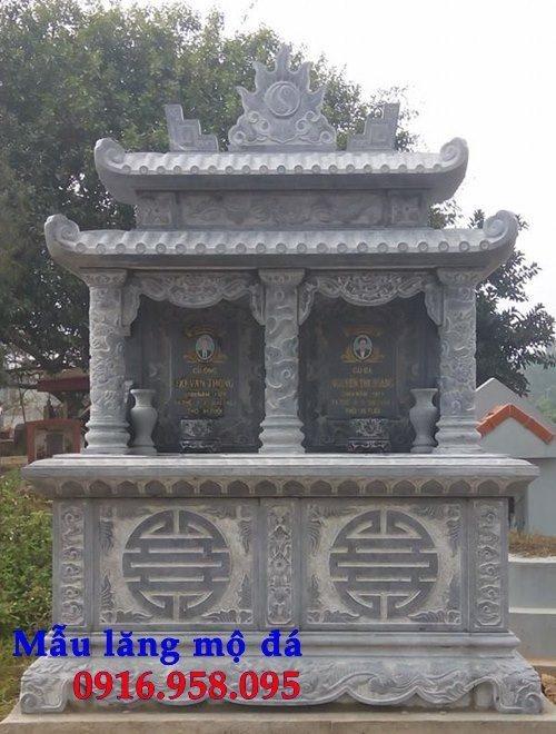 99 Mẫu lăng mộ đôi đẹp bằng đá xanh 108
