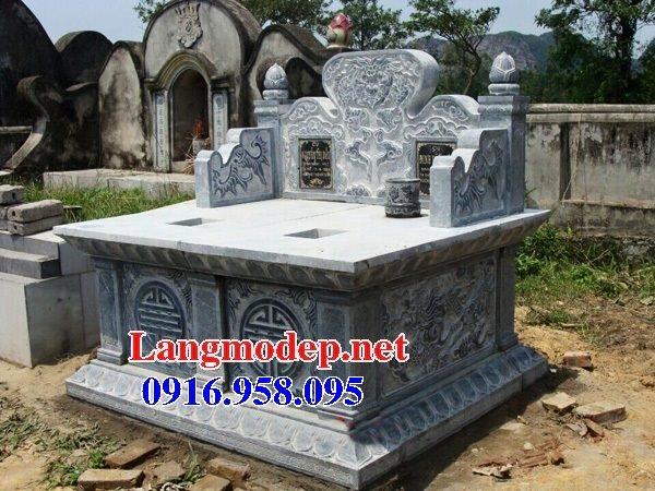 99 Mẫu lăng mộ đôi đẹp bằng đá xanh 20
