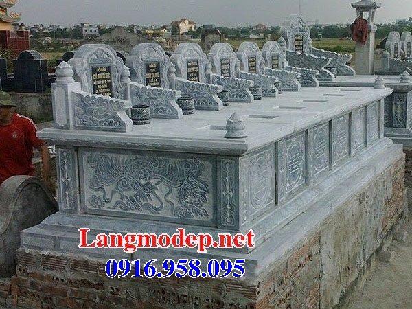 99 Mẫu lăng mộ đôi đẹp bằng đá xanh 22