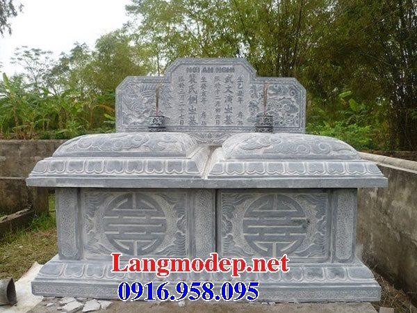 99 Mẫu lăng mộ đôi đẹp bằng đá xanh 23