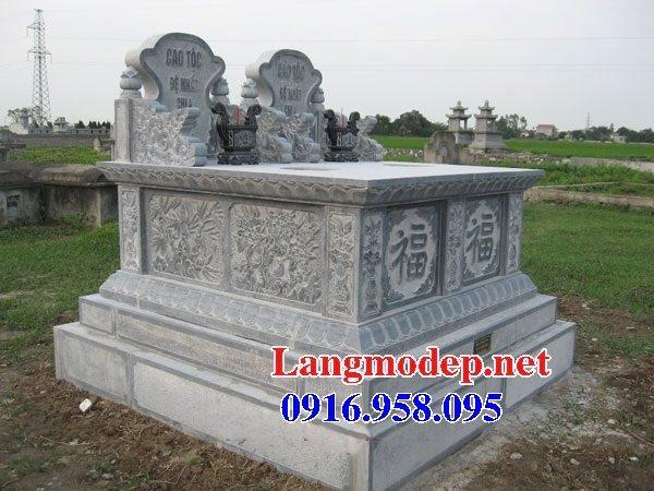 99 Mẫu lăng mộ đôi đẹp bằng đá xanh 27