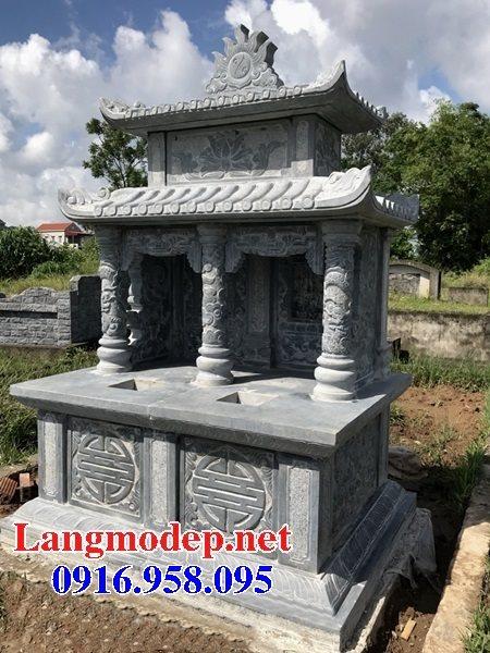 99 Mẫu lăng mộ đôi đẹp bằng đá xanh 32