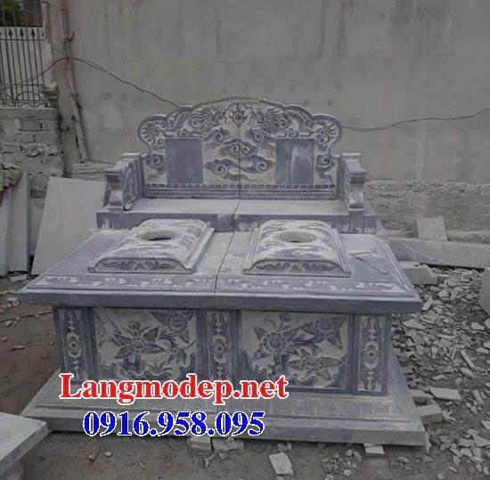 99 Mẫu lăng mộ đôi đẹp bằng đá xanh 33