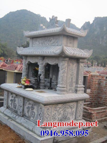99 Mẫu lăng mộ đôi đẹp bằng đá xanh 34