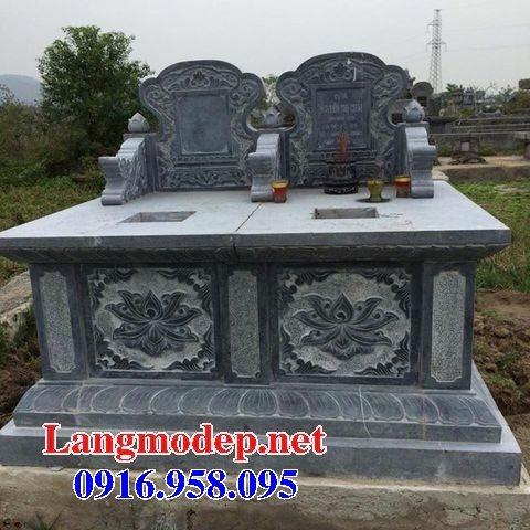 99 Mẫu lăng mộ đôi đẹp bằng đá xanh 36