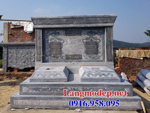 99 Mẫu lăng mộ đôi đẹp bằng đá xanh 39