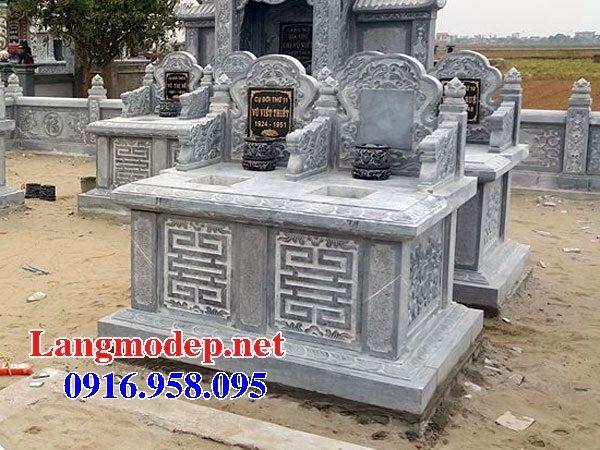 99 Mẫu lăng mộ đôi đẹp bằng đá xanh 42