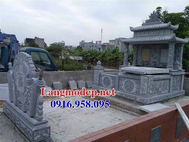 99 Mẫu lăng mộ đôi đẹp bằng đá xanh 43