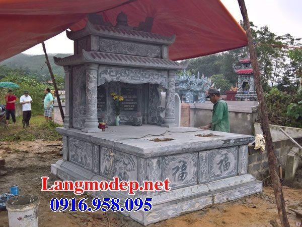 99 Mẫu lăng mộ đôi đẹp bằng đá xanh 45