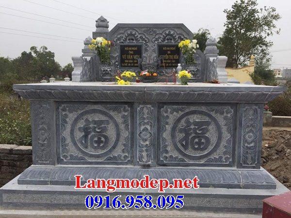 99 Mẫu lăng mộ đôi đẹp bằng đá xanh 50