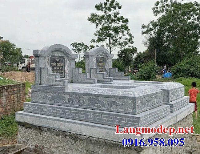 99 Mẫu lăng mộ đôi đẹp bằng đá xanh 52