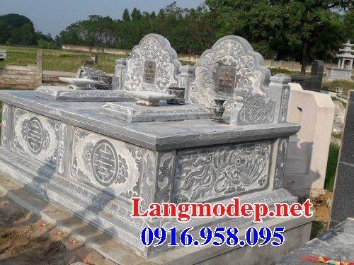 99 Mẫu lăng mộ đôi đẹp bằng đá xanh 54