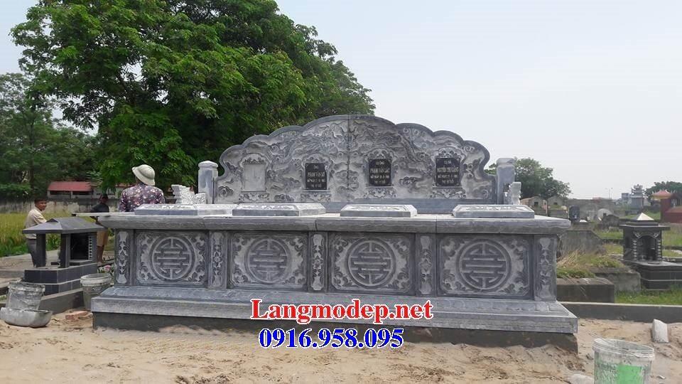 99 Mẫu lăng mộ đôi đẹp bằng đá xanh 56