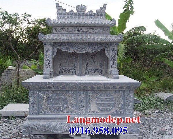 99 Mẫu lăng mộ đôi đẹp bằng đá xanh 59