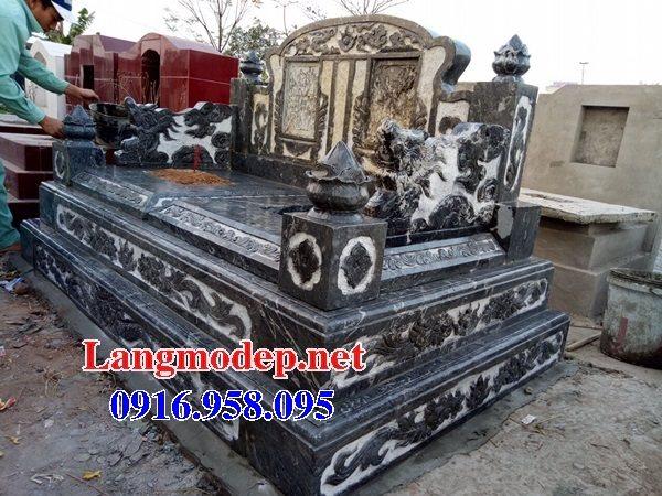 99 Mẫu lăng mộ đôi đẹp bằng đá xanh 60