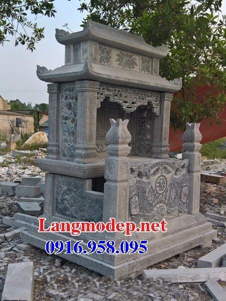 99 Mẫu lăng mộ đôi đẹp bằng đá xanh 61