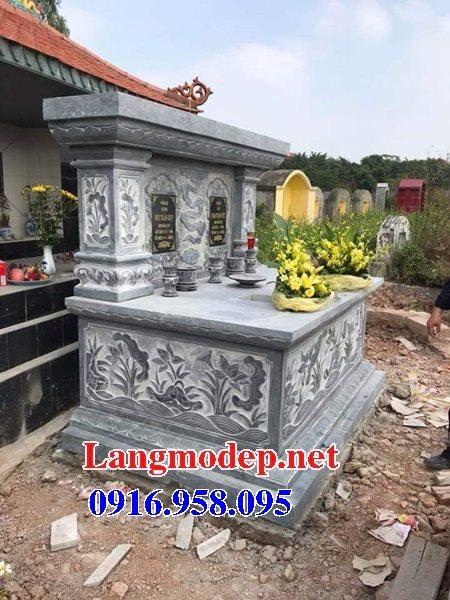 99 Mẫu lăng mộ đôi đẹp bằng đá xanh 78