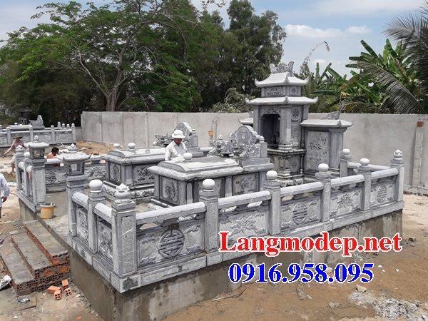 99 Mẫu lăng mộ đôi đẹp bằng đá xanh 80