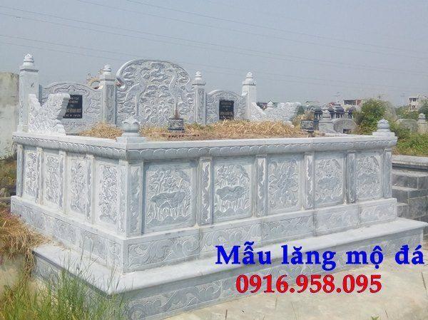 99 Mẫu lăng mộ đôi đẹp bằng đá xanh 86