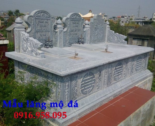 99 Mẫu lăng mộ đôi đẹp bằng đá xanh 88