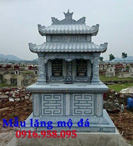 99 Mẫu lăng mộ đôi đẹp bằng đá xanh 93