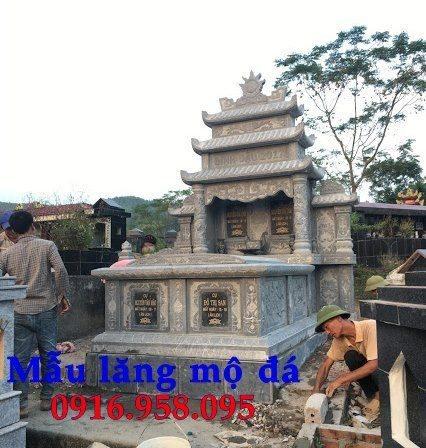 99 Mẫu lăng mộ đôi đẹp bằng đá xanh 95