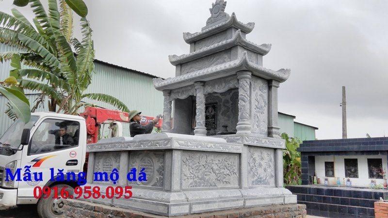99 Mẫu lăng mộ đôi đẹp bằng đá xanh 96