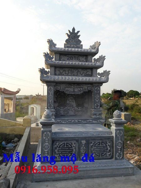 99 Mẫu lăng mộ đôi đẹp bằng đá xanh 98