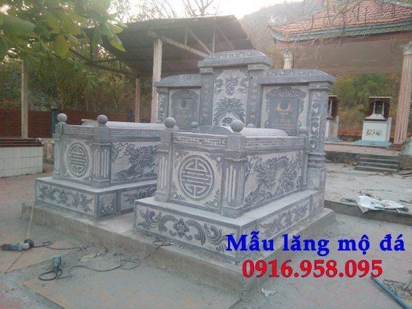 99 Mẫu lăng mộ đôi đẹp bằng đá xanh 99