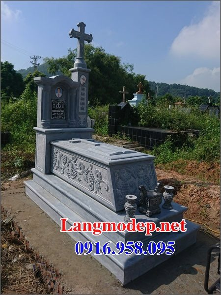 Bán các kiểu mẫu mộ công giáo bằng đá đẹp 05