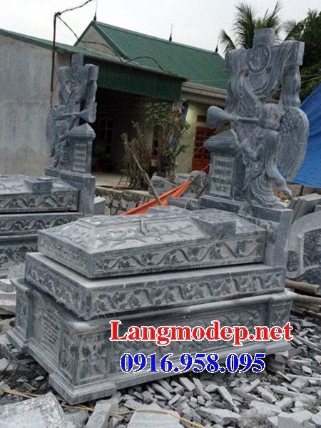 Mẫu lăng mộ đá công giáo đẹp bán toàn quốc