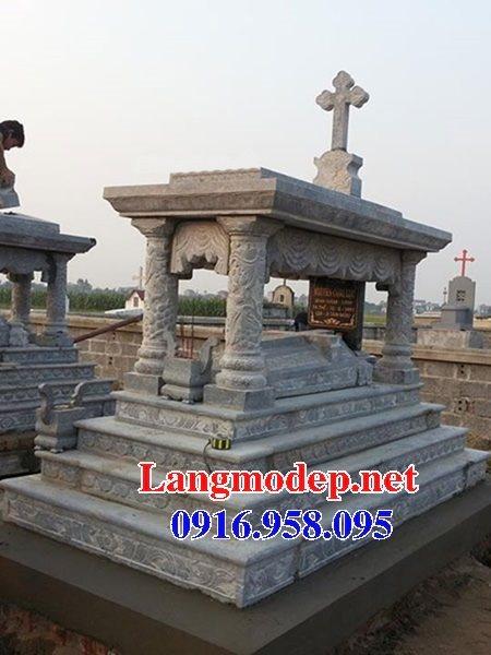 Mẫu lăng mộ đá công giáo đẹp bán toàn quốc 02