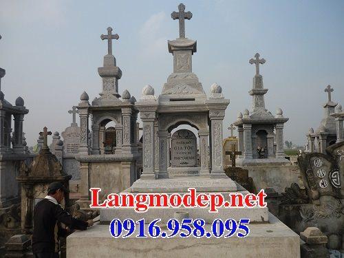 Mẫu lăng mộ đá công giáo đẹp bán toàn quốc 05