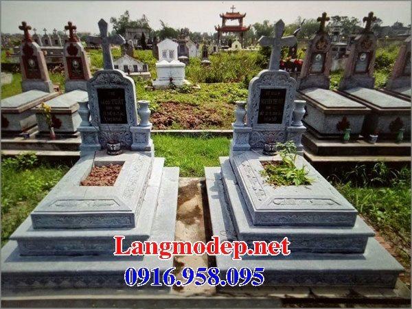 Mẫu lăng mộ đá công giáo đẹp bán toàn quốc 09