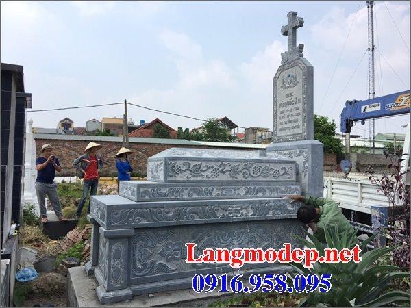 Mẫu lăng mộ đạo thiên chúa xây bằng đá đẹp