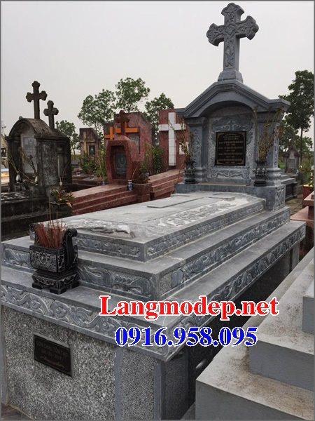 Mẫu lăng mộ đạo thiên chúa xây bằng đá đẹp 05