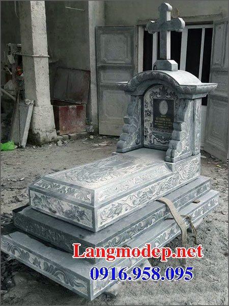 Mẫu lăng mộ đạo thiên chúa xây bằng đá đẹp 06