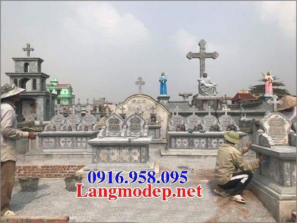 Mẫu lăng mộ đạo thiên chúa xây bằng đá đẹp 08