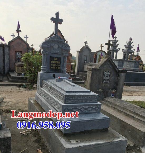Mẫu lăng mộ đạo thiên chúa xây bằng đá đẹp 09