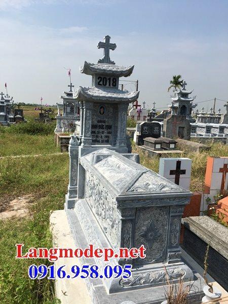 Mẫu lăng mộ đạo thiên chúa xây bằng đá đẹp 10