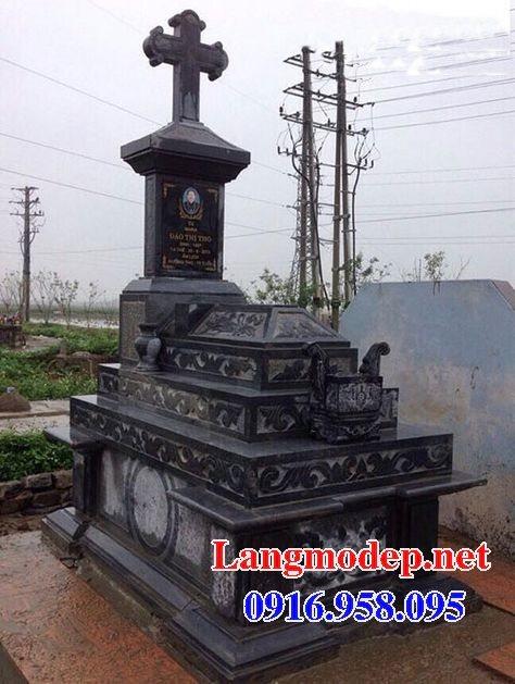 Mẫu lăng mộ đạo thiên chúa xây bằng đá đẹp 11