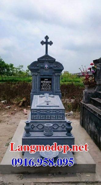 Mẫu lăng mộ đạo thiên chúa xây bằng đá đẹp 12