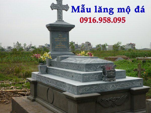 Mẫu lăng mộ đạo thiên chúa xây bằng đá đẹp 14