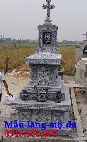 Mẫu lăng mộ đạo thiên chúa xây bằng đá đẹp 15
