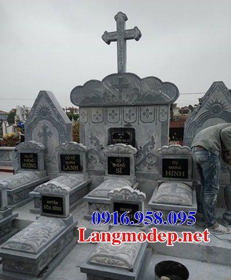 Mẫu lăng mộ công giáo bằng đá bán toàn quốc 06