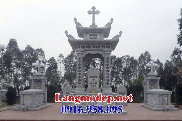 Mẫu lăng mộ công giáo bằng đá bán toàn quốc 07