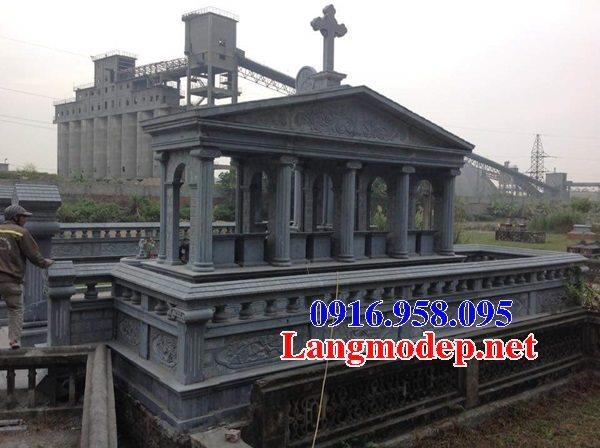 Mẫu lăng mộ công giáo bằng đá bán toàn quốc 08