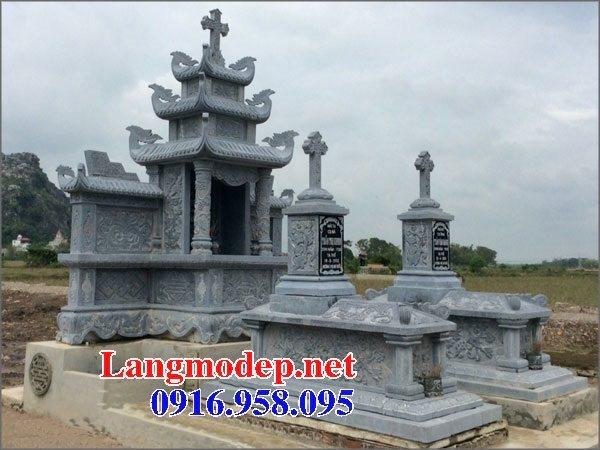 Mẫu lăng mộ công giáo bằng đá bán toàn quốc 11