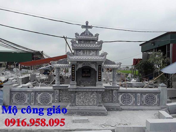 Mẫu lăng mộ công giáo bằng đá bán toàn quốc 12